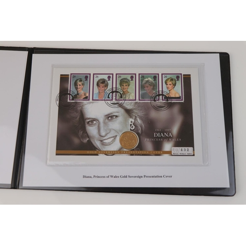 432 - A Westminster Mint limited edition 2007 gold sovereign Diana Princess of Wales presentation cover, N...