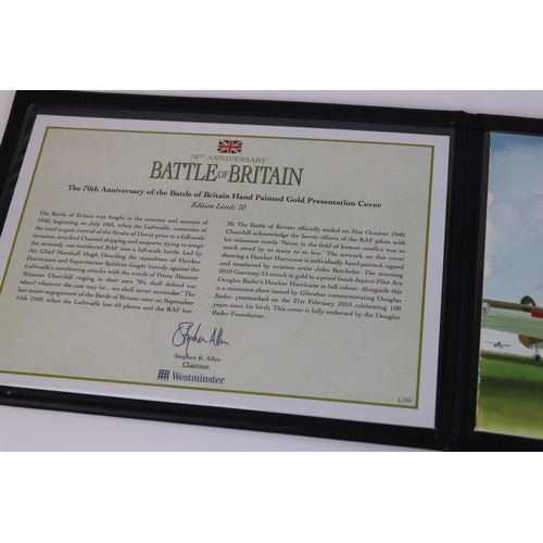 434 - A Westminster Mint limited edition No.2 of 70 The 70th Anniversary Battle of Britain Gold Five Pound...
