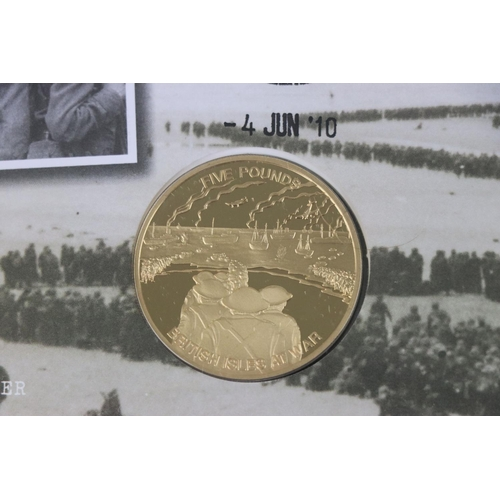 436 - A Westminster Mint limited edition 2010 Great Britain At War 70th Anniversary Of Dunkirk £5 gold coi...