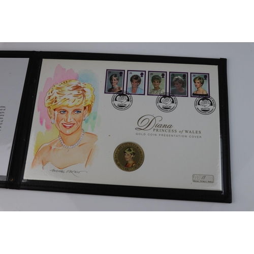 437 - A Westminster Mint limited edition 2008 Diana Princess Of Wales 18ct Gold crown sized coin presentat...