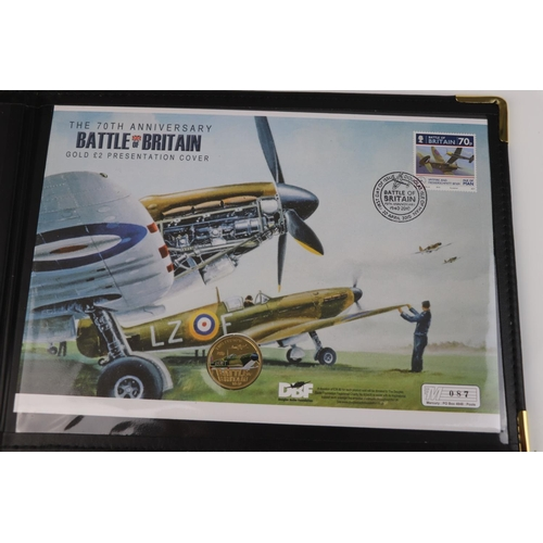 438 - A Westminster Mint limited edition 2010 70th Anniversary of the Battle Of Britain gold £2 coin prese...