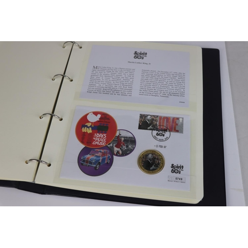 478 - A limited edition Westminster Mint Memories of the Sixties coin and stamp cover collection contained...