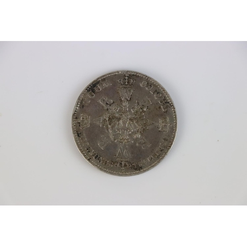 497 - Prussian Silver Thaler coin 1861