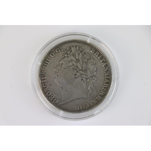 504 - A British King George IIII 1821 silver Full crown coin.