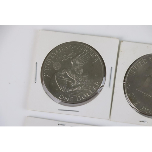 505 - Seven United States Of America Eisenhower Dollar Coins, to include a 1973 (S), 1972 (D) together wit...