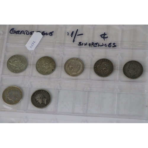 512 - A collection of British Pre-Decimal half silver and silver coinage from King George VI through to Ki...