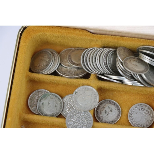 516 - A collection of mainly pre-decimal silver coins to include a large quantity of threepence coins.