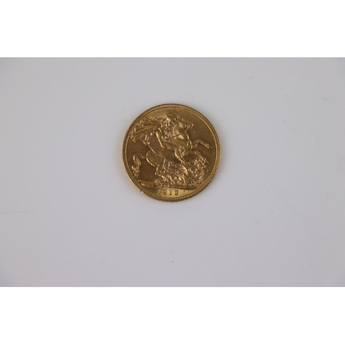 523 - A King George V Full gold Sovereign dated 1912.