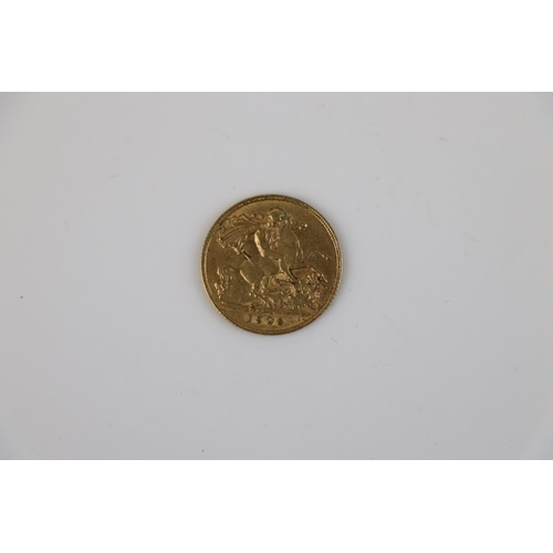 524 - A King Edward VII Half gold Sovereign dated 1908.