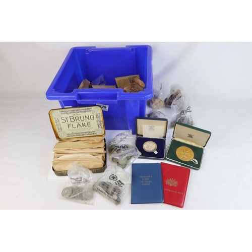 529 - A collection of mainly British pre-decimal coins to include two cased 1969 Prince of Wales Investitu...
