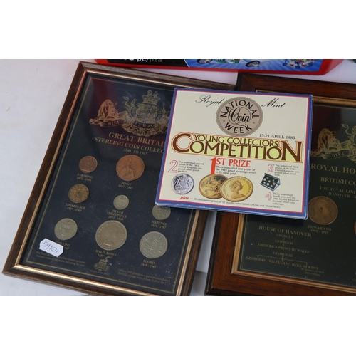 533 - A large collection of mainly pre-decimal British coins.