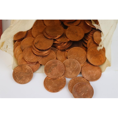535 - A mixed collection of mainly pre-decimal British coins together with foreign coins and banknotes, to...