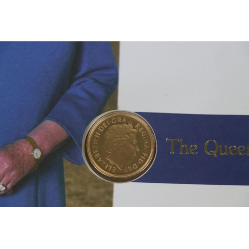 538 - A 2002 Great Britain gold proof Sovereign coin cover.