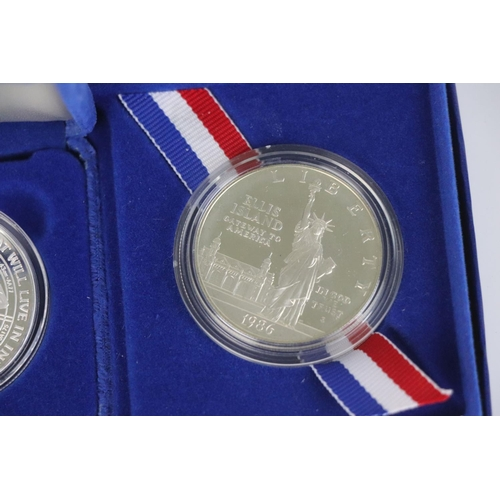 540 - A United States silver liberty dollar coin set.