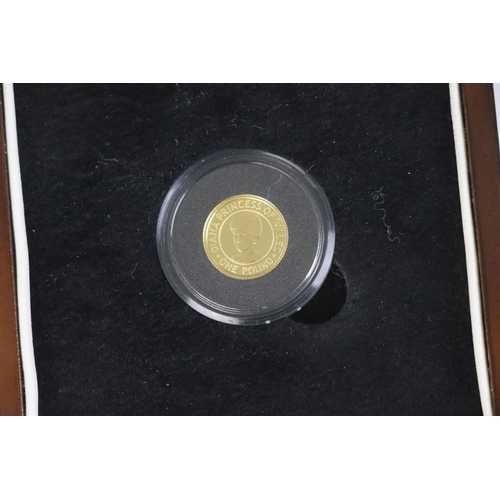 541 - A Queen Elizabeth II Bailiwick of Jersey Diana Princess of Wales Commemorative £1 gold coin dated 20...