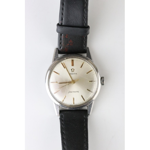 158 - A Gents Omega Seamaster Circa 1960's, Cal 285.  Replacement leather strap