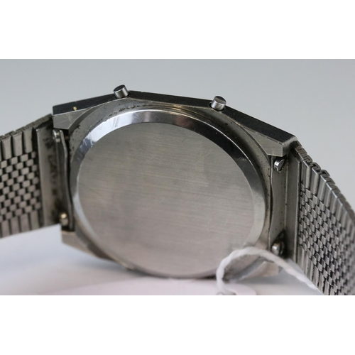 159 - A Gents 1970's Tissot LCD Chronograph watch ref Z97003 with original box and papers