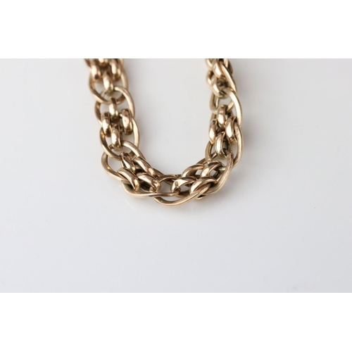48 - 9ct yellow gold fancy link bracelet, lobster clasp, length approx 20cm