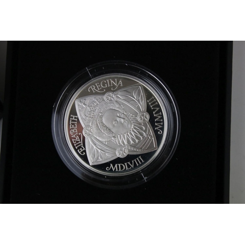 492 - Royal Mint 2008 Silver Proof Queen Elizabeth I Commemorative £5 Coin. Mint and Cased Condition.