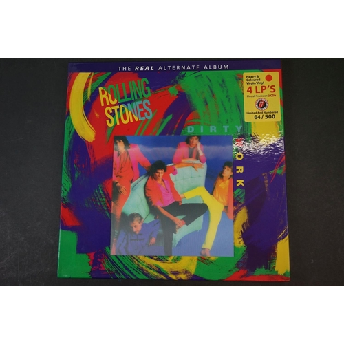 1004 - Vinyl - ltd edn The Real Alternate Album Rolling Stones Dirty Work 4 LP / 2 CD Box Set RTR010, heavy...