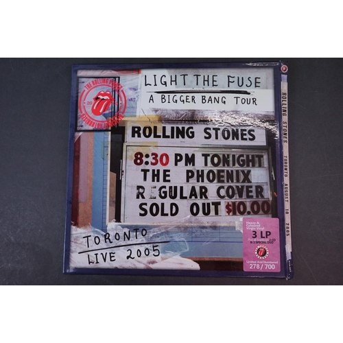 1010 - Vinyl - ltd edn Rolling Stones Toronto August 10 2005 3 LP / 2 CD / 1 DVD Box Set rtr023, heavy colo...