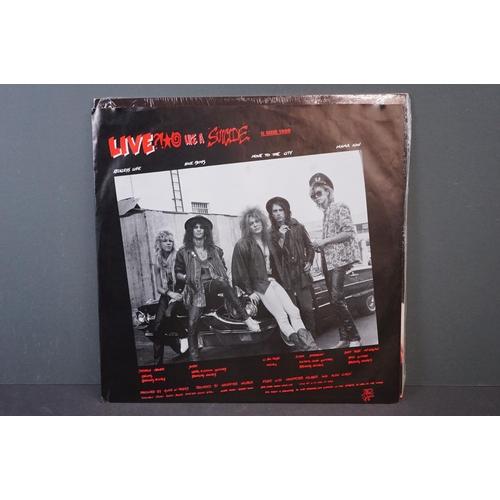 59 - Vinyl - Guns n Roses Lies LP on Geffen UK WX218 sleeve with shrink wrap, vinyl vg++