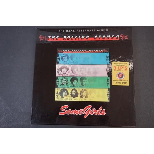 1005 - Vinyl - ltd edn The Real Alternate Album Rolling Stones Some Girls 3 LP / 2 CD Box Set RTR002, heavy...