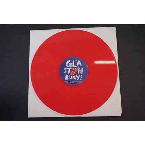 1015 - Vinyl - ltd edn Rolling Stones Glastonbury 2013 3 LP / 2 CD / 1 DVD Box Set RTR030, 180g coloured vi...