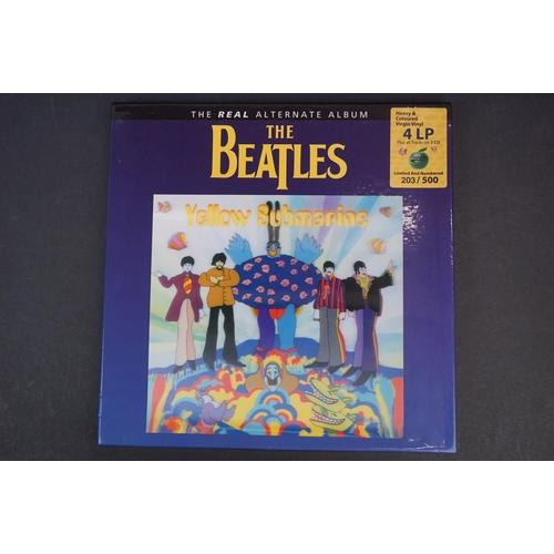 1027 - Vinyl - ltd edn The Real Alternate Album The Beatles Yellow Submarine 4 LP 2 CD heavy coloured vinyl...