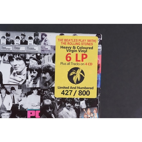 1030 - Vinyl - The Beatles Play (with) The Rolling Stones volume one 6 LP 4 CD Box Set LB01 427/800 ex