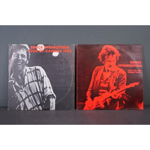 """1108 - Vinyl - Bruce Springsteen - 2 Rare Private Pressing Live albums: """"Fire On The Finger Tips"""" 1978, Sle..."""