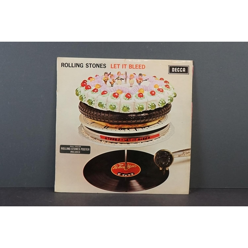 1113 - Vinyl - Rolling Stones - Let It Bleed. Original UK 1969 Mono 1st Pressing, unboxed Decca with red in...