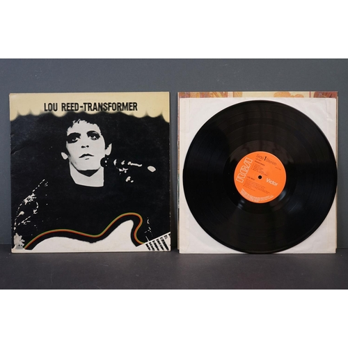"""1117 - Vinyl - Two Lou Reed UK 1st pressing albums to include """"Lou Reed"""", UK 1972, 1E / 1E matrices, Front ..."""