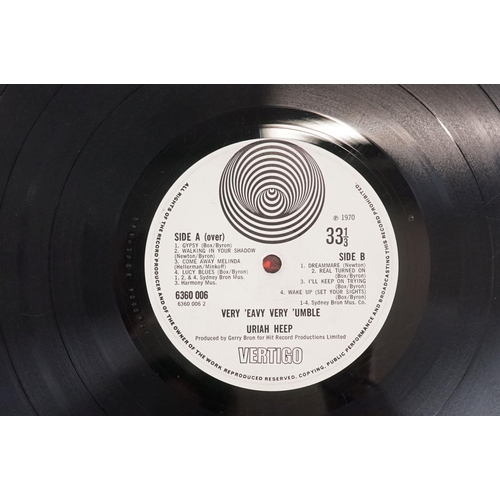 1133 - Vinyl - Uriah Heep - Very 'Eavy…Very Umble. Origina l UK 1970 1st pressing large swirl Vertigo label...