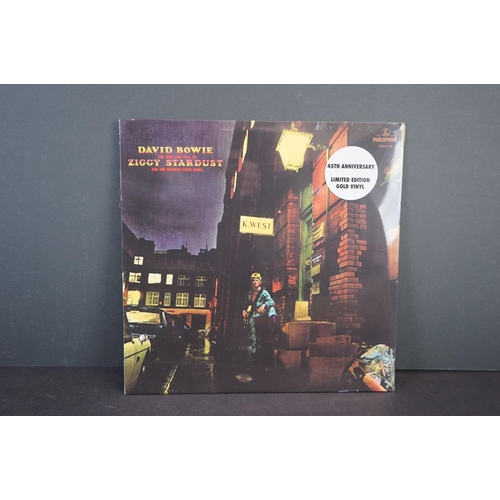 259 - Vinyl - David Bowie Ziggy Stardust and the Spiders from Mars 45th Anniversary ltd edn gold vinyl LP,...