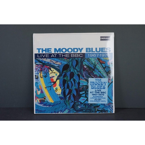 502 - Vinyl - The Moody Blues Live at The BBC 1967-1970 ltd edn 3 LP set coloured vinyl on Deram mono 7734...
