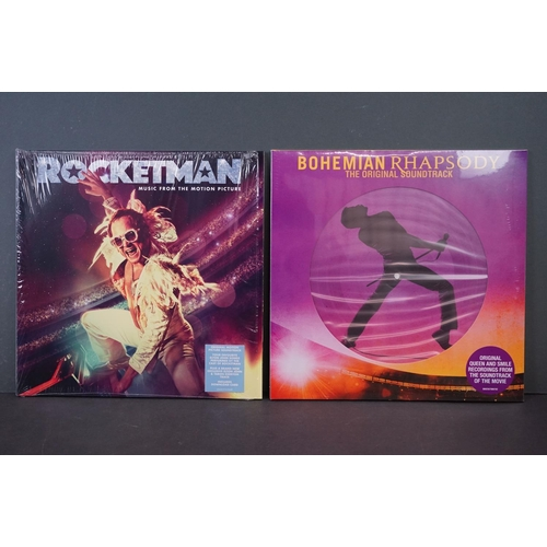 507 - Vinyl - Two Movie Soundtrack LPs to include Rocketman Elton John V3231 (ex and within opened shrink ...