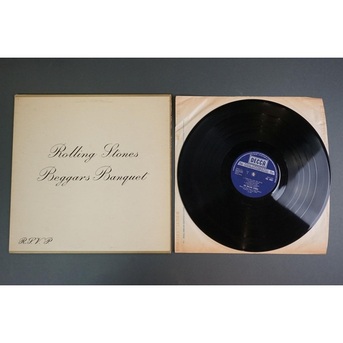 1160 - Vinyl - The Rolling Stones 2 LP's to include Sticky Fingers (W59100) Italian pressing, no zip front ...