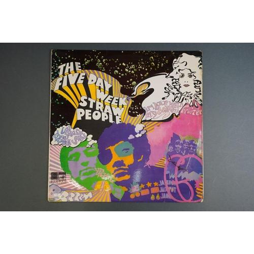 1214 - Vinyl - Five Day Week Straw People self titled LP SAGA, STFID 2123 with original Saga inner, label r...