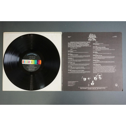 1215 - Vinyl - Two Julian's Treatment LPs to include A Time Before This SYS2/3 Youngblood red and white lab...