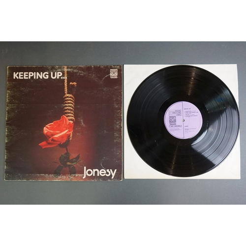 1221 - Vinyl - Two Jonesy LPs to include Keeping Up DNLS3048 Dawn label, gatefold sleeve and Growing DNLS30...