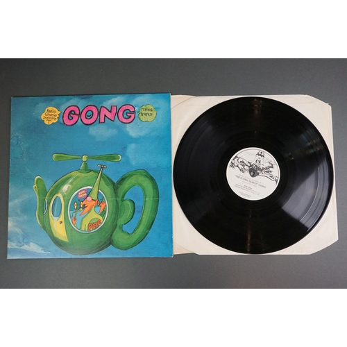 1238 - Vinyl - Two Gong LPs to include The Flying Teapot on Virgin V2002 black and white label design and C...