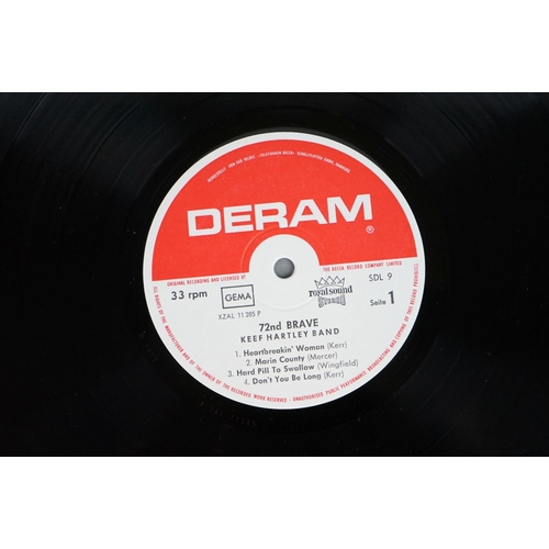 142 - Vinyl - Keef Hartley Band Seventy Second Brave (Deram SDL 9) Stereo on the red and white Deram label...