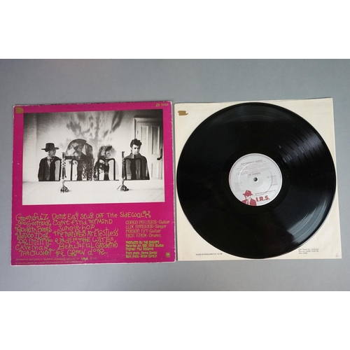 148 - Vinyl - The Cramps Psychedelic Jungle LP on IRS SP70016 with some label graffiti, The Crusher 12