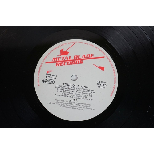 1170 - Vinyl - Thrash - D.R.I 4 Of A Kind (Roadrunner RR 9538 1) with correct printed inner sleeve Ex/Ex al...