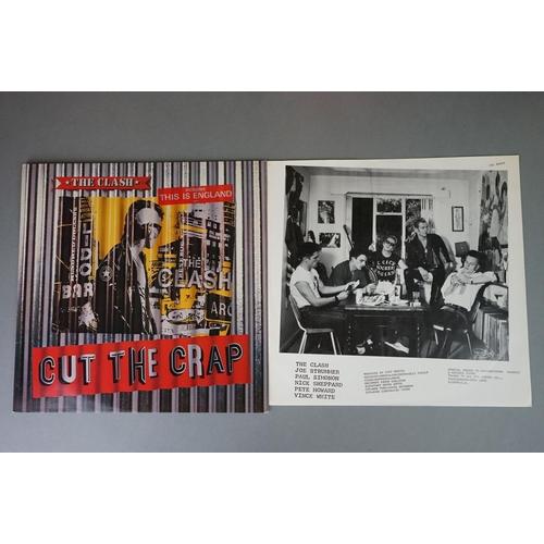 1178 - Vinyl - Five The Clash vinyl LP's to include London Calling (CBS Records CBS CLASH 3), Give 'Em Enou...