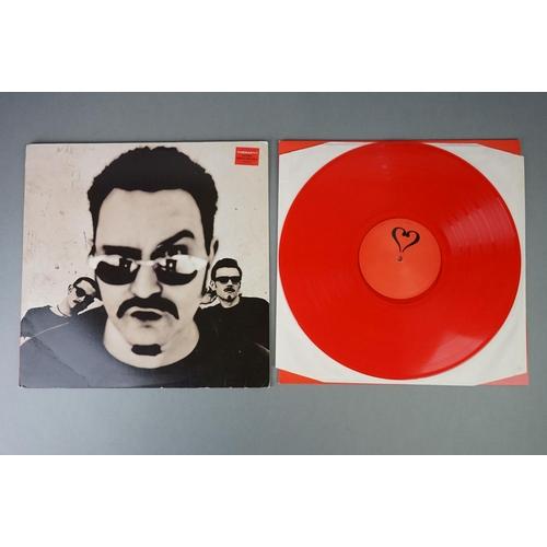 164 - Vinyl - Therapy? Infernal Love LP on red vinyl, sleeve vg with creasing, vinyl ex