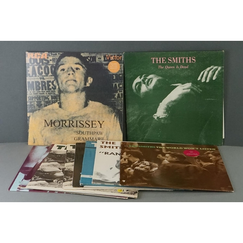 391 - Vinyl - The Smiths / Morrissey 10 LP's to include Self Titled x 2 (Rough 61), Meat Is Murder x 2 (Ro...
