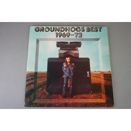 392 - Vinyl - Groundhogs 6 LP's to include Solid (WMA 004), Crosscut Saw (UA LA 603-G), Who Will Save The ...