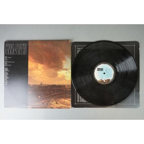 399 - Vinyl - Pink Floyd Animals (SHVL 815) non-barcode gatefold sleeve with G&L printer credit, card inne...